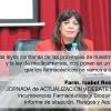 """Maria Isabel Reinoso en la Jornada """"Incumbencias Farmacéuticas y Bioquímicas informe de situación"""""""